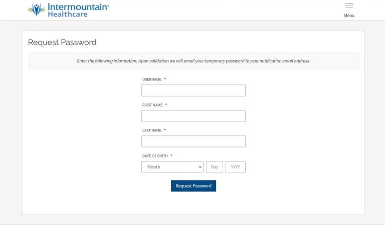 Reset Intermountain Bill Pay Login Password