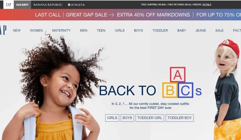 Gap Inc. Clothing retail company