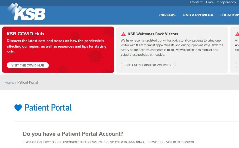 KSB Patient Portal