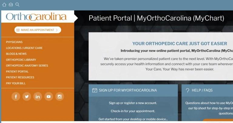 OrthoCarolina Patient Portal