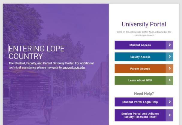 My GCU Edu Student Portal