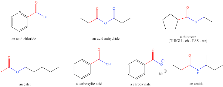 Reactivity: substitution at carboxyl