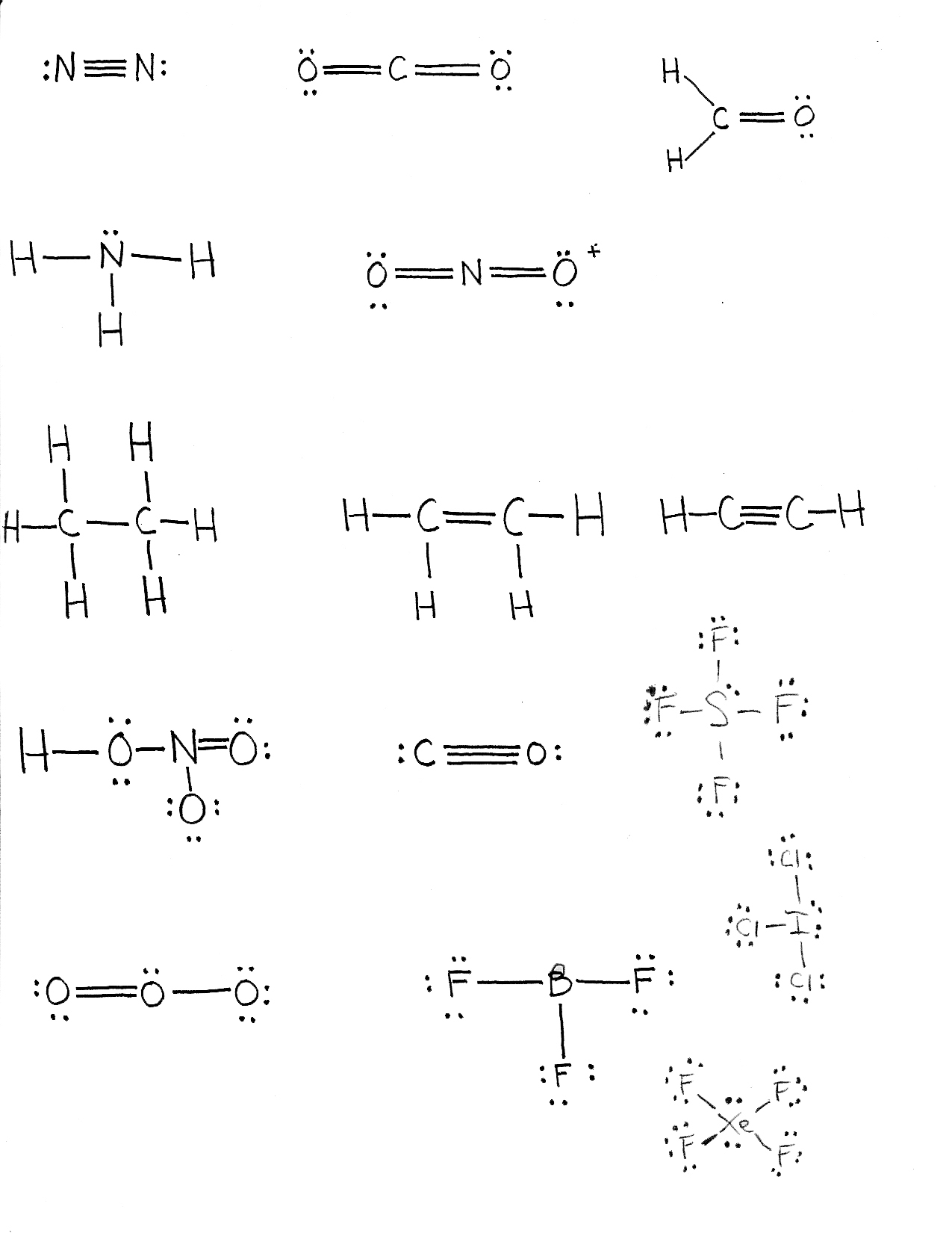 double bond electron dot diagram speakers wiring chemistry 11 chemical bonding and electronic structure