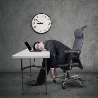 Overtime Business Man Clock