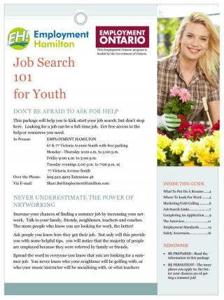 job search 101 cover  Employment Hamilton