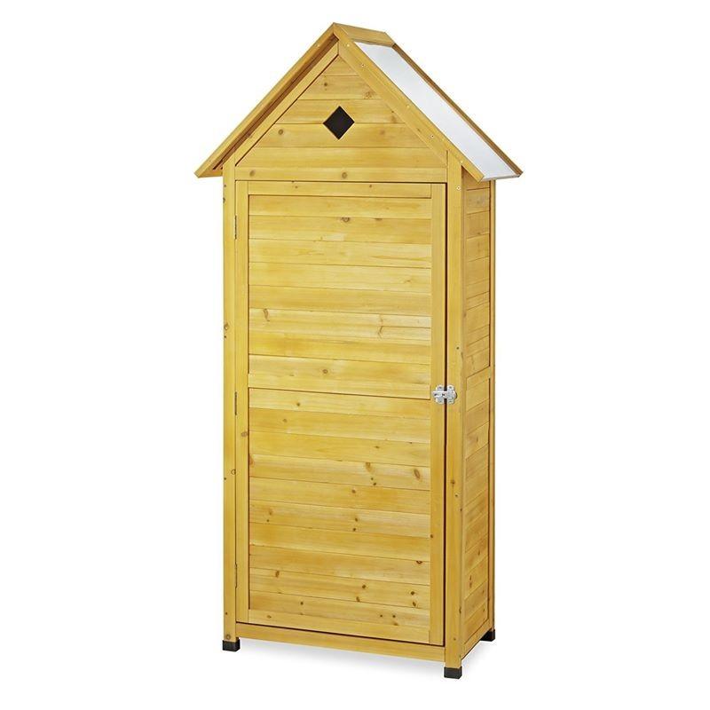 Armadio da esterno in legno portascope e attrezzi per balcone