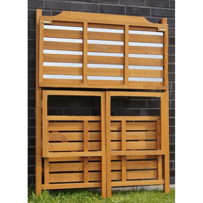 Banco da lavoro in legno pieghevole per giardinaggio e fai da te