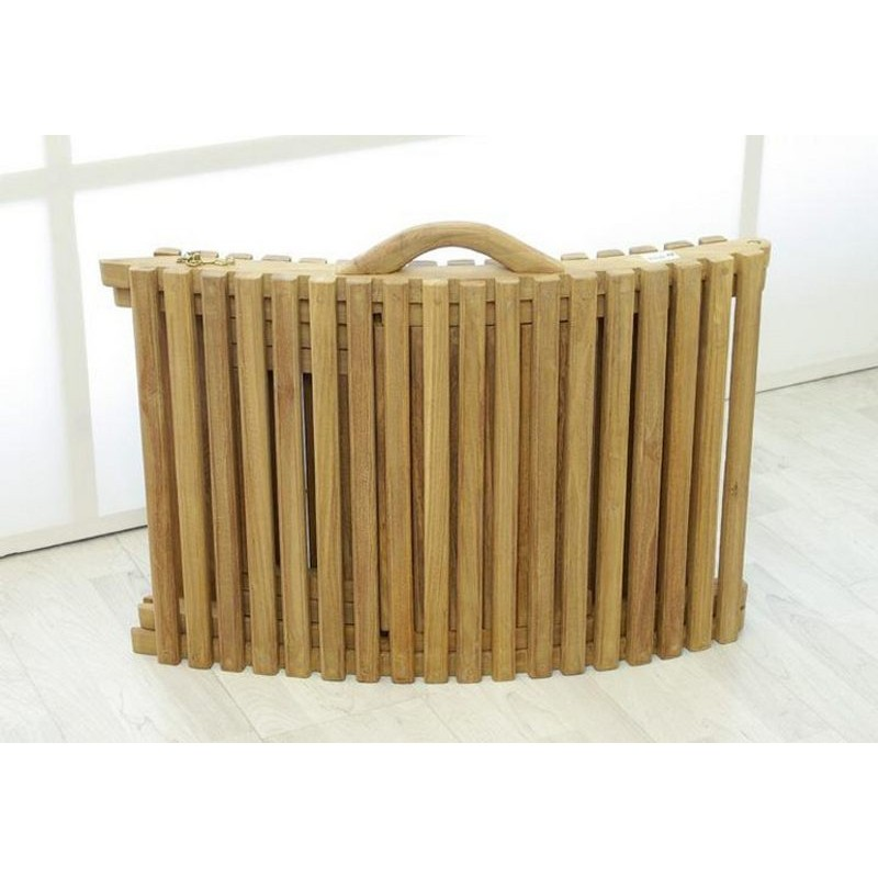 Lettino prendisole in legno di teak pieghevole portatile da giardino