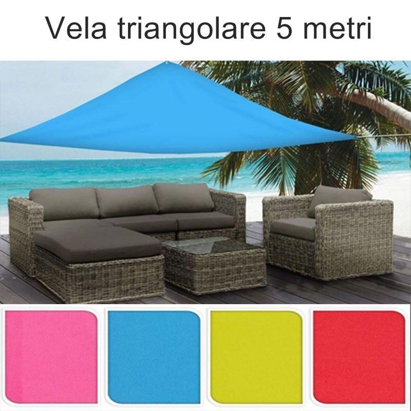 Si consiglia di installare il tende da sole per esterno con un angolo compreso tra 20 e 40 ° (a seconda della situazione) per massimizzare il. Tende A Vela Ombreggianti Triangolari Colorate Da Giardino Da 5 Metri