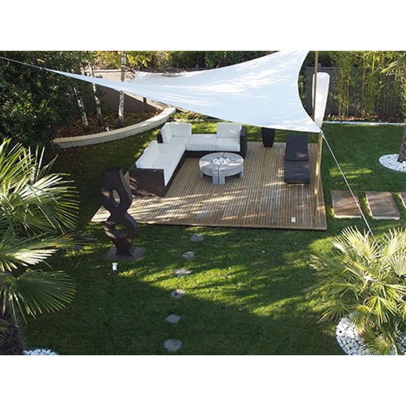 Vela ombreggiante triangolare da giardino HDPE traspirante