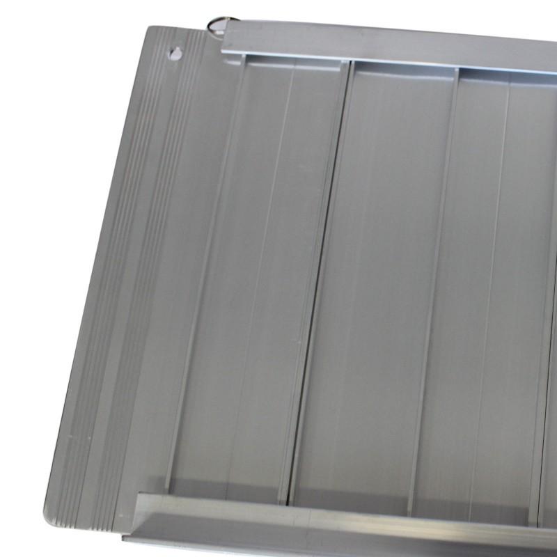 Rampa disabili pieghevole portatile in alluminio per sedia a rotelle