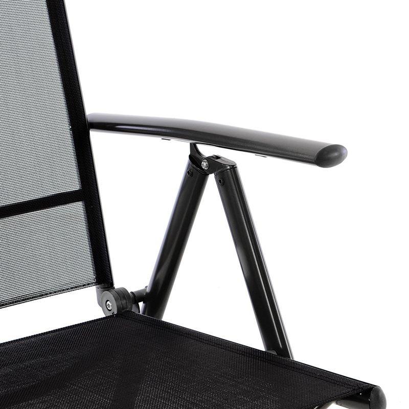 Sedie pieghevoli legno braccioli in vendita ✓ springos sedia pieghevole da giardino in metallo, per: Sedie Da Giardino Pieghevoli Reclinabili In Alluminio Antracite Nero