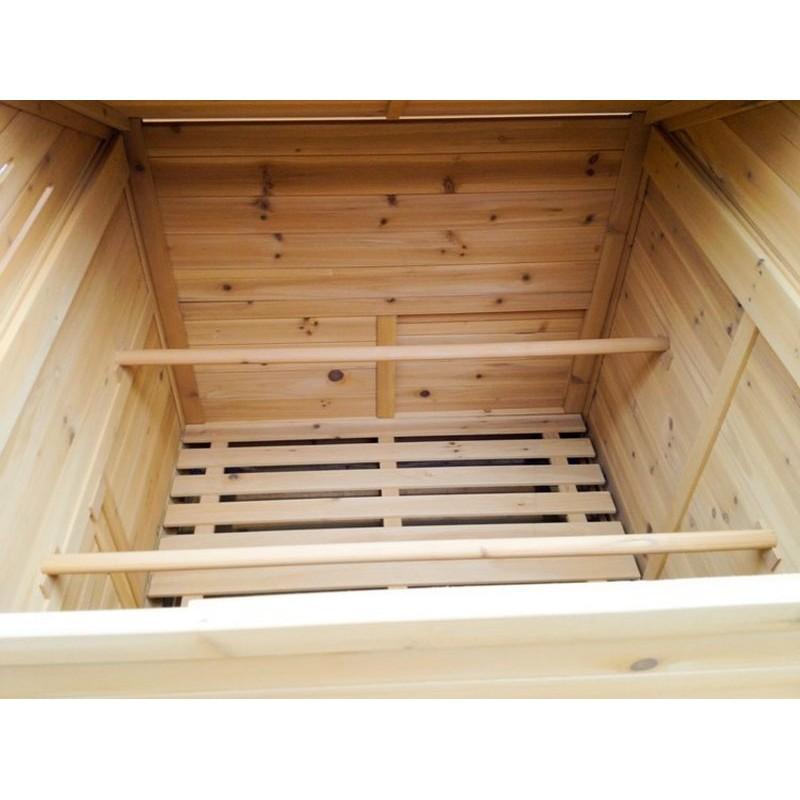Pollaio per 68 galline ovaiole realizzato in legno da giardino