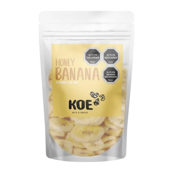 Chips de Plátano con Miel Koe Nuts y Snacks- Tienda Gourmet Emporio LaMarta