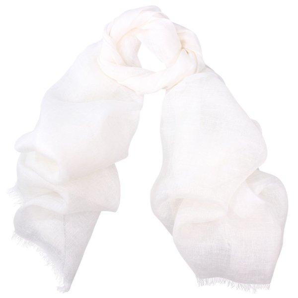 Zara Linen Scarf White