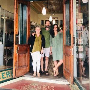 Ann Rosewood and staff at door of Emporium Bellingen