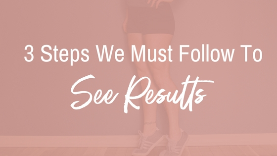 3 Steps we must follow to see results