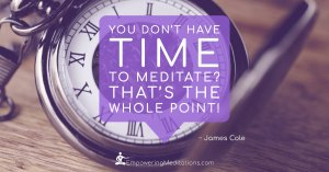 You don't have time to meditate - Page