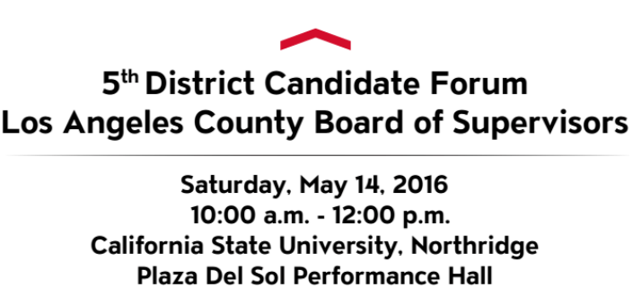 5th District BOS Candidate Forum (5/14) & Metro Community