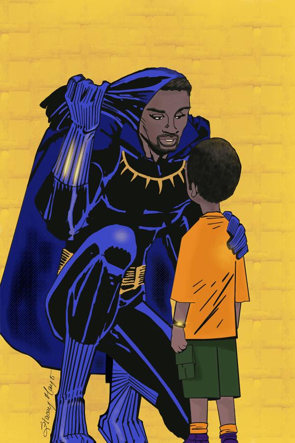 """Black Panther 12"""" x 18"""""""