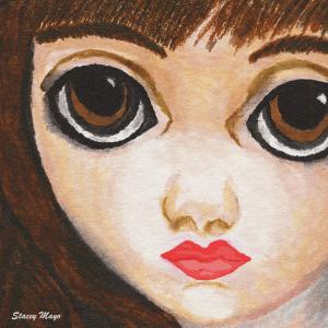 """Girl with Big Eyes 10"""" x 10"""""""