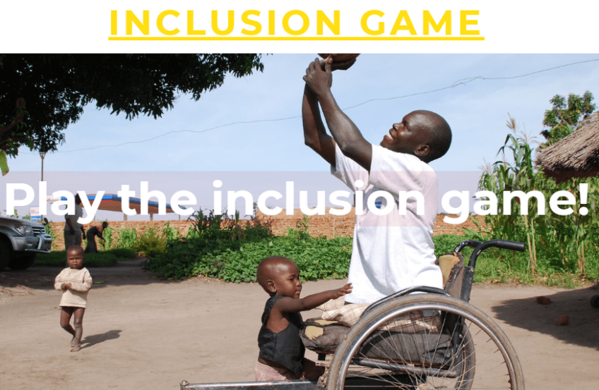 Inclusion Game ready to be used