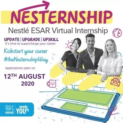 Nestlé Virtual Internship Application 2020 for East & South Africans | Latest Global Opportunities