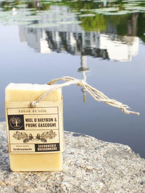Savon Miel D'Aveyron/Prune De Gascogne De La Savonnerie Buissonnière