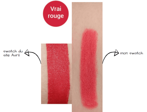 swatch crayon avril vrai rouge