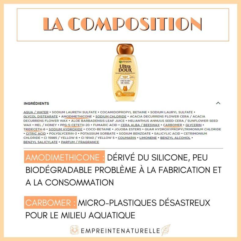 composition trésor de miel de garnier
