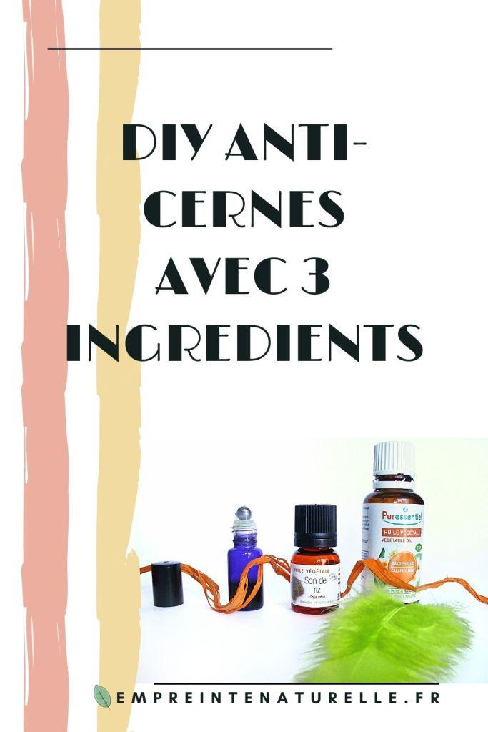 DIY Anti-cernes avec 3 ingrédients