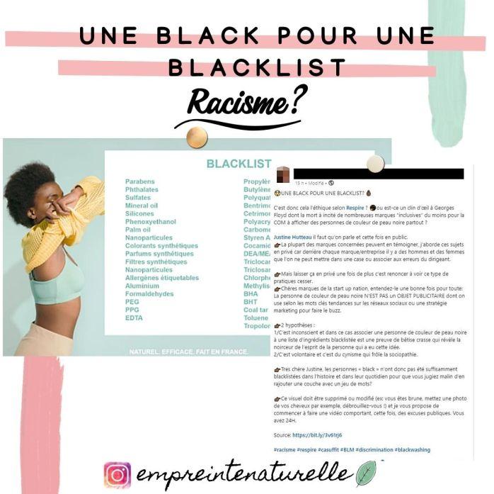 une black pour une blacklist ? Respire