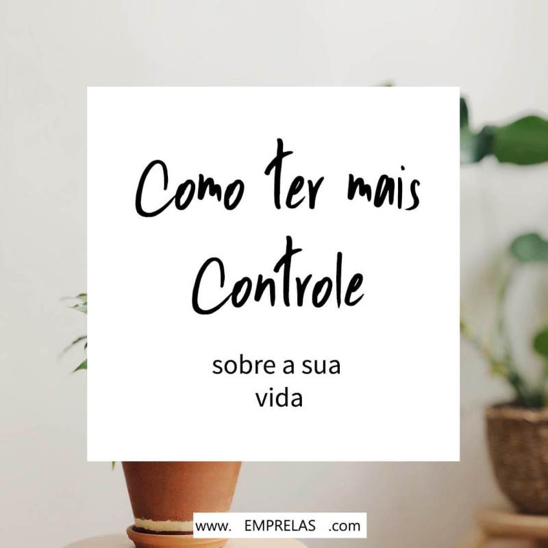 controle da sua vida