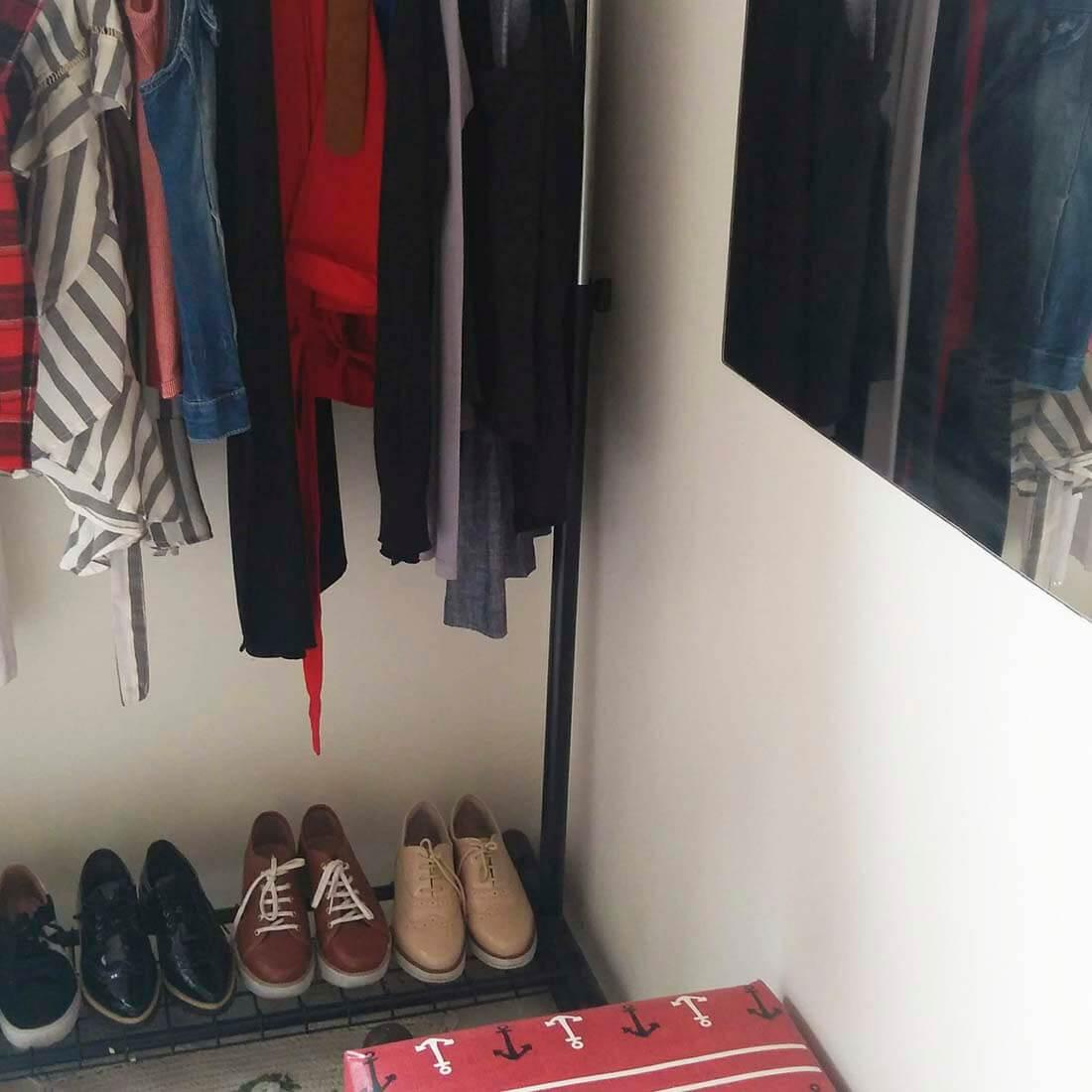 Arara de roupas- organização