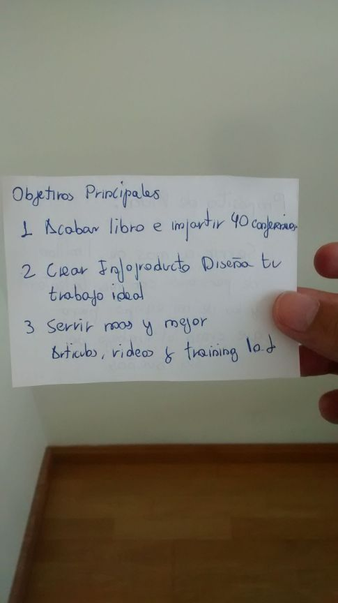 3 objetivos principales