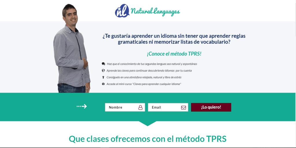 Álvaro nos enseña idiomas con el Metodo TPRS no te lo pierdas https://naturalanguages.com/