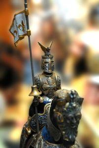 Miniatura de caballero medieval