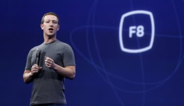 Facebook CEO Mark Zuckerberg speaks during his keynote address at Facebook F8 in San Francisco