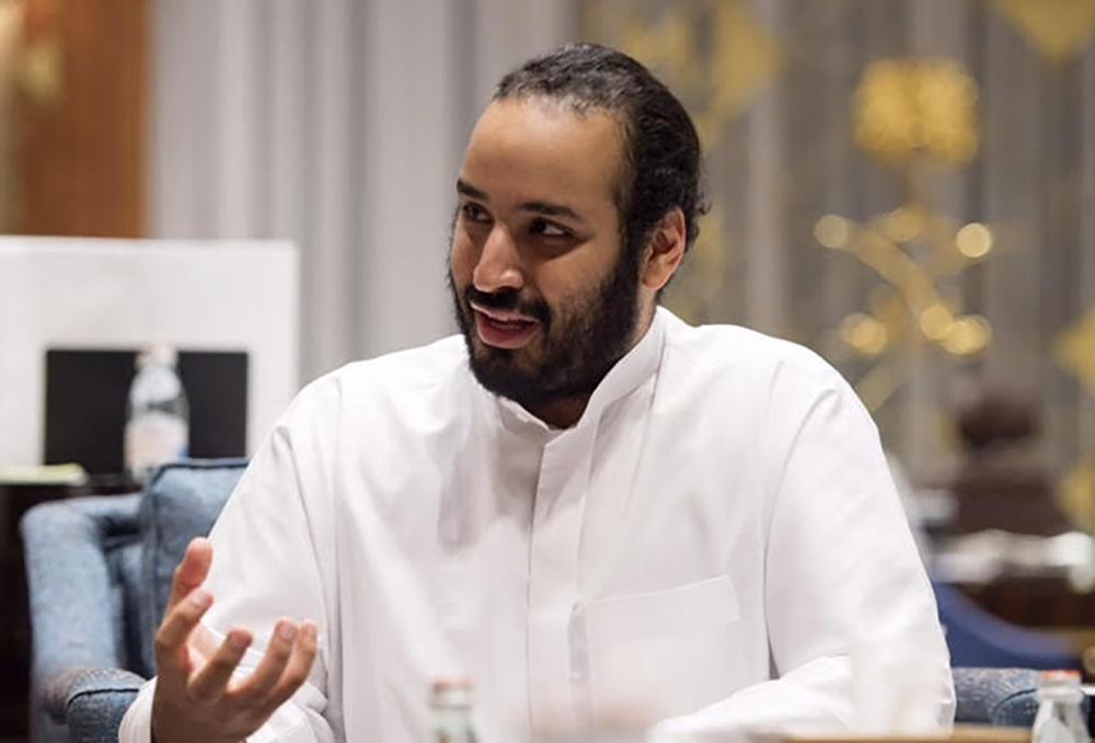 Mohammed Bin Salman, Saudi Deputy Crown Prince, gestures as he speaks during an interview in Riyadh, Saudi Arabia, on Wednesday, March 30, 2016. Source: Saudi Arabia's Royal Court