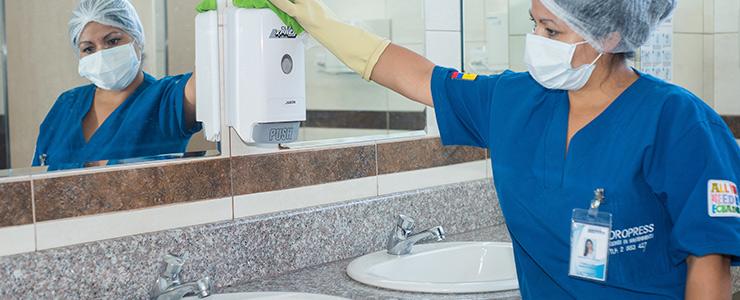 Servicio de limpieza en Ecuador