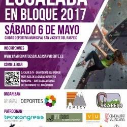 Campeonato Autonómico de Escalada en Bloque en San Vicente del Raspeig 2017