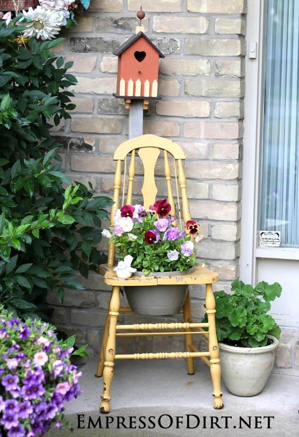 Gallery of Garden Art Chair Ideas  Empress of Dirt