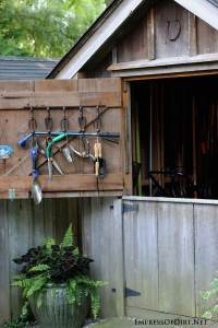 Dutch Door Tool Shed | Smart Garden Idea | Empress of Dirt