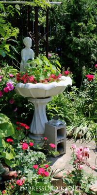 Create a Garden Art Birdbath Planter - Empress of Dirt