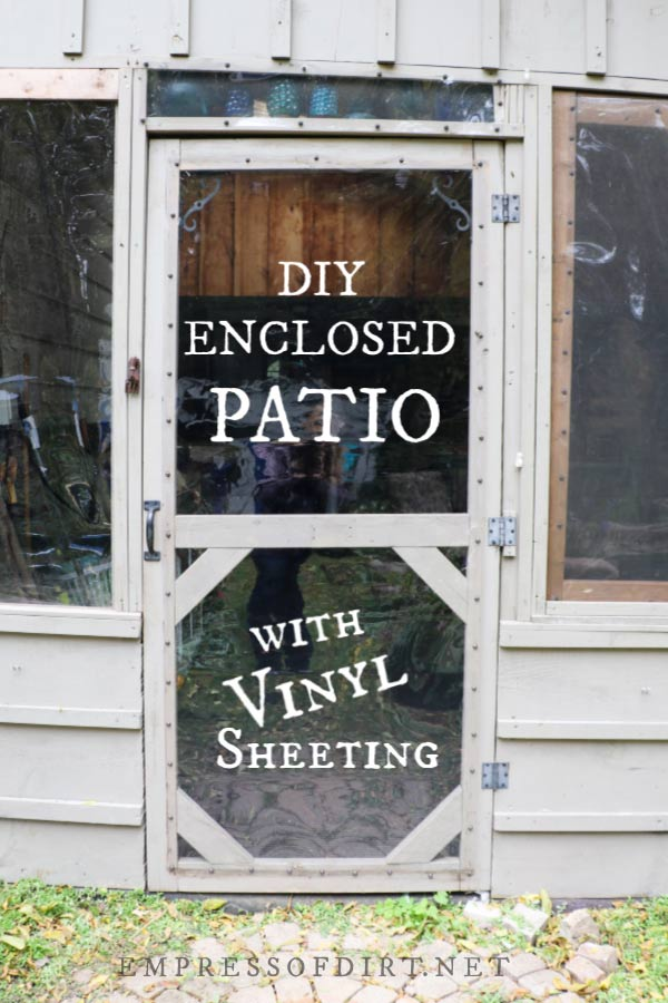 how to enclose a covered patio frugal