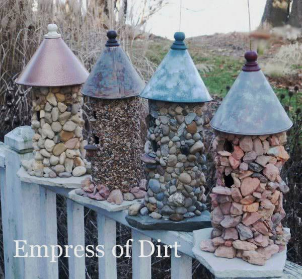 How to make a stone birdhouse by Empress of Dirt