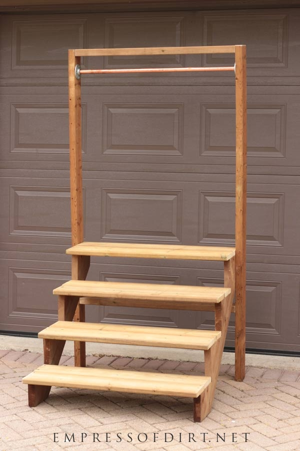 How To Build A Simple Staircase Plant Stand Empress Of Dirt   Ready Made Outdoor Steps   Support   Creative   Patio   Design   Craigslist