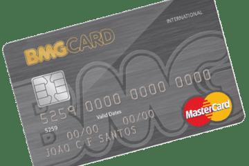 exemplo de um cartão do Banco BMG BMG Card