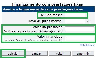 Calculadora do cidadão no site do banco central