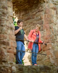 Mom and Son at Middleham Castle empty nest